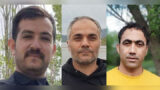 Interrogation of three Azeri activists in the detention center of the Ministry of Intelligence in Evin Prison