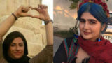 Sepideh Qalyan and Mahboubeh Rezaei were beaten by violent crime prisoners in prison