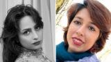 Soheila Hijab and Saba Kordafshari sit-down strike in the corridor of the prison